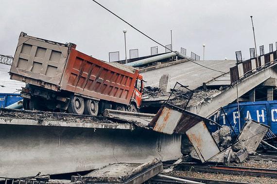 Мост в Приамурье рухнул на участок Транссиба