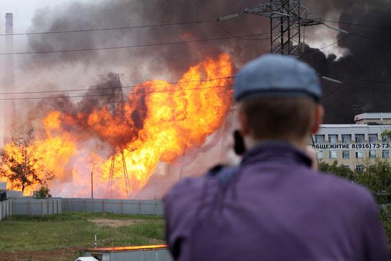 В Подмосковье загорелась принадлежащая «Газпрому» ТЭЦ. Фотографии