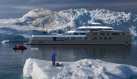 В Нидерландах спустили на воду яхту-ледокол Олега Тинькова. Фотографии