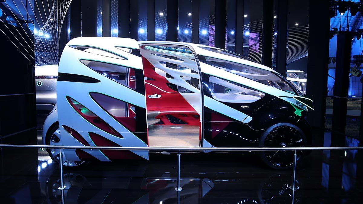 Концепт коммерческого беспилотного автомобиля The Mercedes-Benz Vision Urbanetic