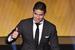 Обладатель приза FIFA имени Ференца Пушкаша за лучший гол года - форвард Real Madrid и сборной Колумбии Хамес Родригес