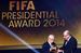 Специальный приз президента FIFA Йозефа Блаттера из его рук получил японский журналист Хироси Кагава. Мундиаль в Бразилии стал десятым, который освещал репортер.