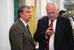 Президент «Роснефти» Игорь Сечин  и гендиректор «Ростеха» Сергей Чемезов в Кремле, март 2014 г.