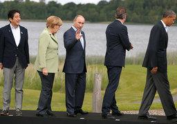 Владимир Путин (в центре) на саммите G8 в 2013 г.