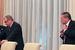 Предправления ВТБ Андрей Костин и министр экономического развития Алексей Улюкаев перед началом рабочего заседания лидеров экономик форума АТЭС