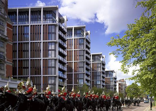Квартиры в жилом комплексе Hude Park One - одни из наиболее популярных среди российских покупателей, которые, в среднем, тратят на покупку дома или квартиры в Лондоне 4,5 млн фунтов, поддерживая тем самым городской рынок дорогой недвижимости.