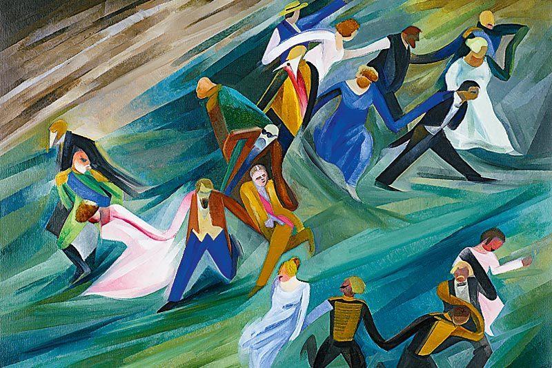 Работа художника Арсения Шульца «Царские Ваньки-Маньки»