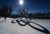 Трасса для лыжных гонок в комплексе Лаура перед началом XXII зимних Олимпийских игр в Сочи