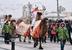 17 декабря, Челябинск                                          Мотокроссмен Евгений Земсков на верблюде Барсике