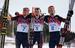 Максим Вылегжанин, Александр Легков, Илья Черноусов                       Золотая, серебрянная и бронзовая медали в масс-старте на соревнованиях по лыжным гонкам среди мужчин