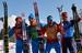 Дмитрий Япаров, Александр Бессмертных, Александр Легков и Максим Вылегжанин                       Мужская сборная России по лыжным гонкам завоевала серебро в эстафете 4×10 км на Олимпиаде в Сочи, впервые взяв медали Игр в этой дисциплине