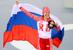 Ольга Граф                      Третье место на дистанции в забеге на 3000 метров в соревнованиях по конькобежному спорту среди женщин