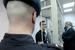 Артем Савелов, обвиняемый по делу о массовых беспорядках на Болотной площади 6 мая 2012 года, во время слушаний в Замоскворецком суде
