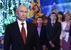 Президент России Владимир Путин во время новогоднего обращения к россиянам в Хабаровске