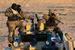 """Военнослужащие Центрального военного округа  России обеспечивают безопасность во время транспортировки ракеты-носителя """"Союз-ФГ"""""""