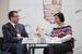 Александр Старченко, председатель наблюдательного совета, НП «Сообщество потребителей энергии» и Наталья Невмержицкая, председатель правления, Некоммерческое партнерство гарантирующих поставщиков и энергосбытовых компаний