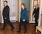 Президент Украины Петра Порошенко, канцлер Германии Ангела Меркель и президент России Владимир Путин
