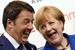 Премьер-министр Италии Маттео Ренци и канцлер Германии Ангела Меркель