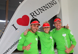 Для Максима Журило (справа), Ирины Московкиной и Владимира Пасекунова марафоны стали еще и бизнесом