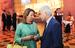 Пресс-секретарь премьер-министра России Наталья Тимакова и президент ОАК Михаил Погосян