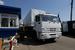 Колонна автомобилей с гуманитарной помощью во время прохождения российско-украинской границы