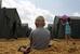 В палаточном лагере для беженцев в Ростовской области