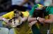 3. Провал Бразилии                                          Если болельщики сборной Аргентины вправе были ждать большего от своей главной звезды, то бразильцы разочарованы всей командой. Сборная Бразилии еле-еле прошла стадии 1/8 и ¼ финала, а дальше смогла провести достойно лишь несколько минут в начале полуфинала с Германией. Уже к концу первой половины игры немцы вели с невероятным счетом 5:0, а весь матч закончился кошмарными для Бразилии 7:1. Этого унижения бразильцам оказалось недостаточно - их в пух и прах разбили голландцы в «утешительном финале» (3:0).