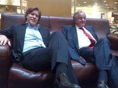 Члены совета директоров Максим Соков и Андрей Бугров. Фото В. Петлевой