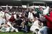 """4 ноября 2009 г. Игроки """"Анжи"""" радуются выходу в премьер-лигу. Через пять лет клуб снова встретится со старыми соперниками из первого дивизиона."""