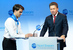 """Председатель правления """"Газпрома"""" Алексей Миллер выступает на церемонии пуска в эксплуатацию второй ветки газопровода """"Северный поток"""""""