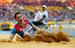 Александр Меньков выиграл золото в прыжках в длину. Он принес пятое золото в копилку сборной России, которая вышла на первое место в командном зачете чемпионата.