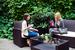 Во время кофе-брейка во внутреннем дворике отеля «Гельвеция»