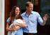 Герцогиня Кембриджская Кэтрин, принц Уильям и новорожденный наследник