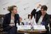 Ирина Бобрышева, казначей, «Северсталь» и Елена Луковкина, директор дирекции по рынкам капитала и международному налогообложению, «Евраз»