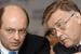 Заместитель министра транспорта Александр Мишарин и глава РЖД Владимир Якунин, 2007 г.