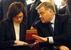 Президент РЖД Владимир Якунин и министр экономического развития Эльвира Набиуллина, 2008 г.
