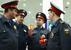 """Сотрудники полиции с лампадами, зажженными от Благодатного огня в аэропорту """"Внуково"""""""