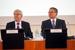 Председатель Центрального банка РФ Сергей Игнатьев и первый заместитель председателя Банка России Алексей Улюкаев