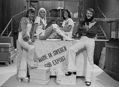 Группа на съемках телепередачи Made in Sweden – for export, 1975