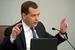 Председатель правительства РФ Дмитрий Медведев на пленарном заседании Государственной Думы РФ