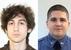 Подозреваемый Джохар Царнаев (слева) и погибший полицейский Шон Кольер