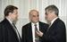 1996 г.                                          Первый вице-премьер правительства Владимир Потанин (слева), министр экономики РФ Евгений Ясин (в центре) и вице-премьер правительства, министр финансов Александр Лившиц (справа).
