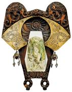 Михаил Врубель.  Морская царевна. Рама из дуба  изготовлена в мастерских Талашкино, 1904