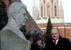 Лидер КПРФ Геннадий Зюганов во время церемонии возложения цветов к могиле И.В.Сталина у Кремлевской стены