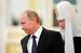Владимир Путин и патриарх Кирилл во время встречи с участниками Архиерейского собора Русской православной церкви
