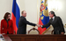 "Президент Путин, глава ""Роснефти"" Игорь Сечин и помощник президента Эльвира Набиуллина."