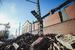 Челябинск, разрушенная стена и часть кровли цинкового завода из-за волны, вызванной падением метеорита.