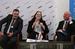 Дэвид Скотт, Хизер Янг и Георг Херрнлебен на пленарной сессии