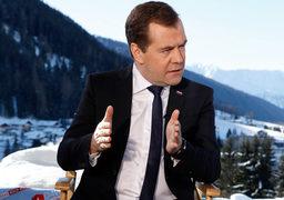 Премьер-министр России Дмитрий Медведев на форуме в Давосе
