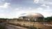 """Эскиз нового стадиона """"ВТБ арена"""", который вместит не 45 000 зрителей, как предполагалось ранее, а менее 30 000. В сравнении со старой концпецией он стал меньше на целый ярус и потерял так называемые """"ноги"""" - лестницы, на которые опирался стеклянный купол арены."""